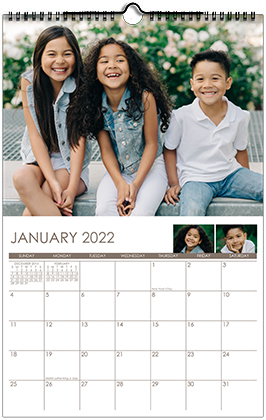 Custom Printed Monthly Personalized Photo Calendar Style CM2-1