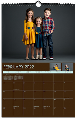 Custom Printed Monthly Personalized Photo Calendar Style CM2-2