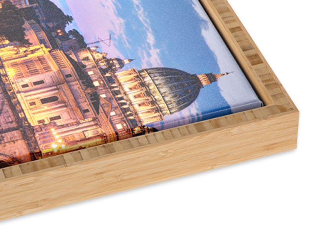 Bamboo Slim Float Frame with Carbonized Finish