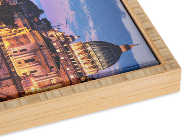 Bamboo Slim Float Frame with Natural Finish