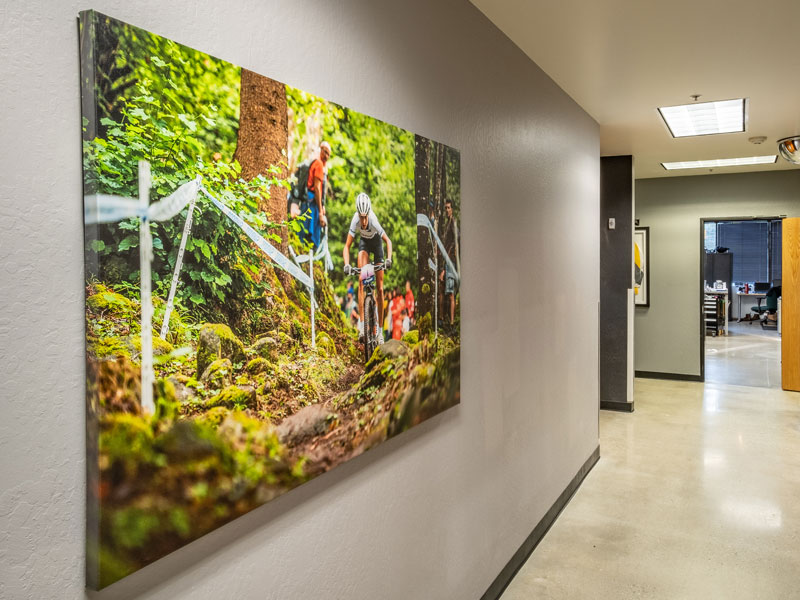 Canvas Print at Fox Racing Shox Headquarters in Scotts Valley, CA