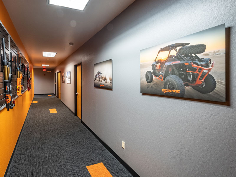 Xpozer Prints at Fox Racing Shox Headquarters in Scotts Valley, CA