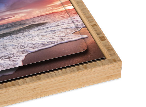 Double Float Metal Print with a Carbonized Bamboo Slim Float Frame