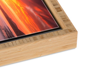 Bamboo Slim Float Frame with a Carbonized Finish