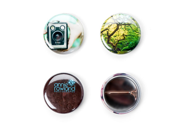 1 inch round photo button pin