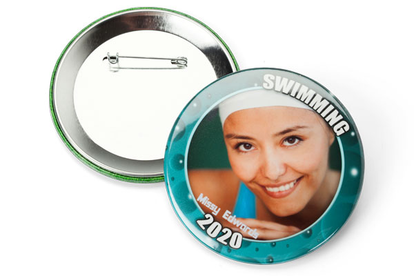 3 inch round photo button pin