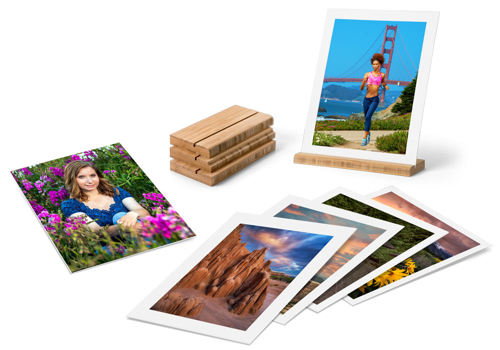 Gallery Boards feature your images or artwork printed on 4-ply textured mat board made from 100% recyled content.