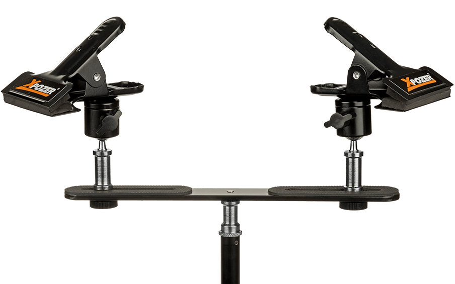 Xpozer Display Clamps for displaying photo prints on a lightstand