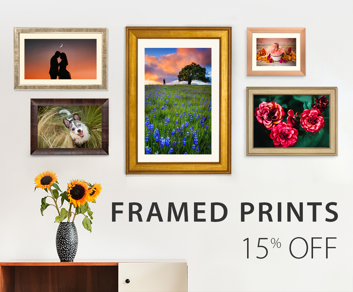 15% Off% Off Framed Prints!