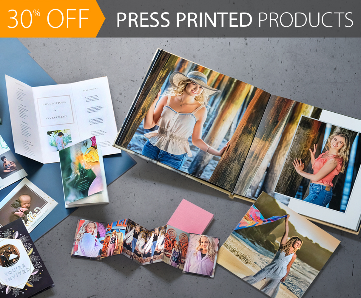 30% Off% Off ALL Press Printed Products!